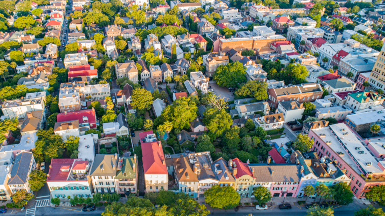 Finding Beautiful Places for Smiling Faces - Find My Porch Real Estate - Aerial view of downtown Charleston, SC - Robin Windham - Find My Porch Real Estate