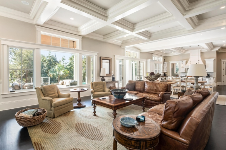 Finding Beautiful Places for Smiling Faces - Find My Porch Real Estate - Stunning living room on Kiawah, SC - Robin Windham - Find My Porch Real Estate